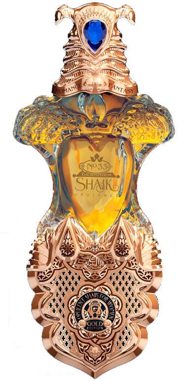 Shaik Opulent Gold Edition for Women парфюмированная вода 40мл ЛЮКС (в золоте - кожаный чехол - хрустальный флакон с кристаллом Swarovski) (Шейх Золотое Издание для Женщин)