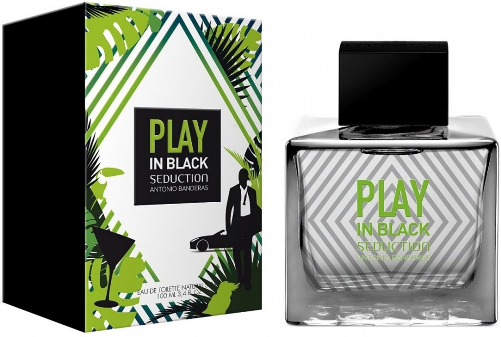 Banderas Play In Black Seduction for Men