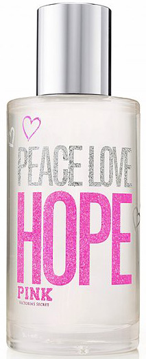 Victorias Secret Hope Pink Peace Love