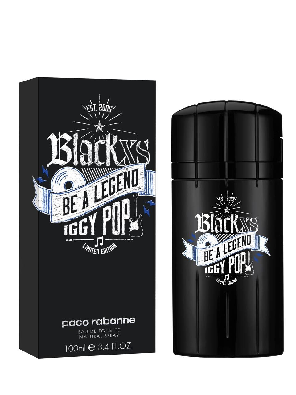 Paco Rabanne XS Black Be a Legend Iggy Pop