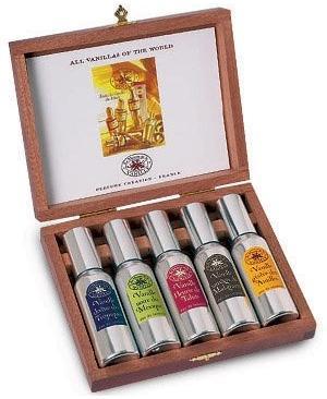 La Maison de la Vanille Cases All Vanillas of the World набор подарочный в картонной коробке 5*15мл (Мейсон де ла Ваниль Футляр Все Ванили Мира)